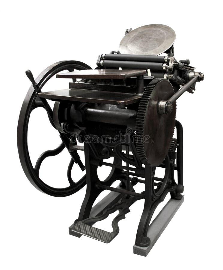 1888 letterpress obrazy stock
