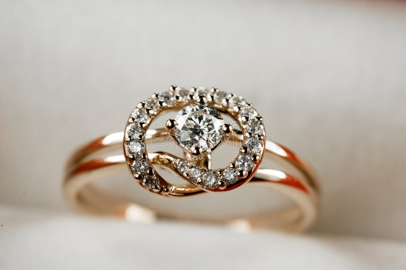 18k gold Jewelry stock photography