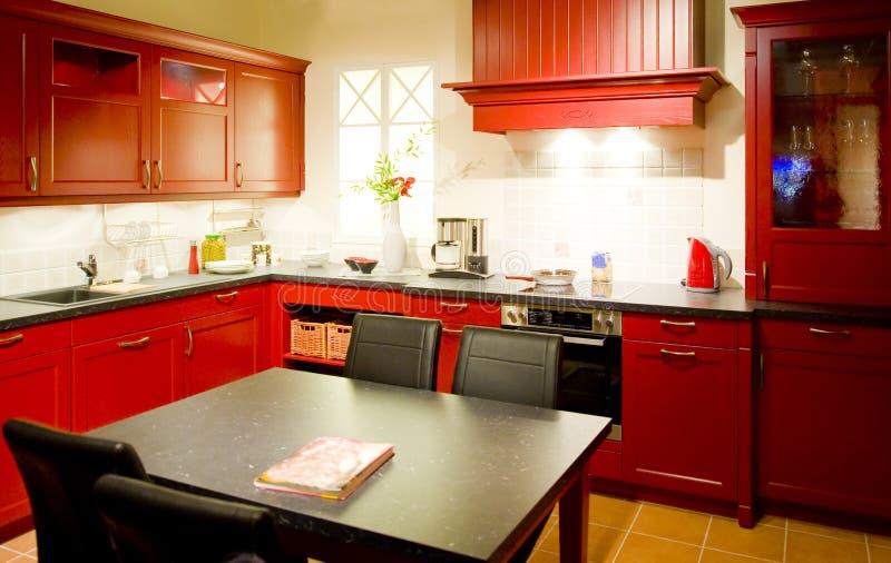 19个厨房现代新的缩放比例 免版税库存照片