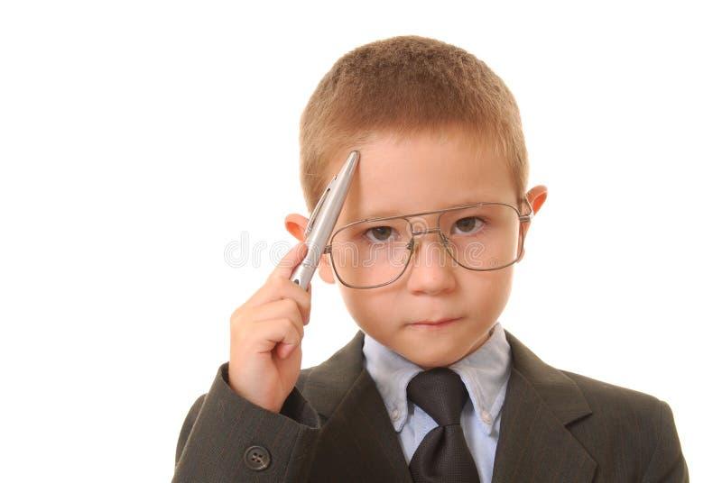 19个男孩生意人 免版税库存图片