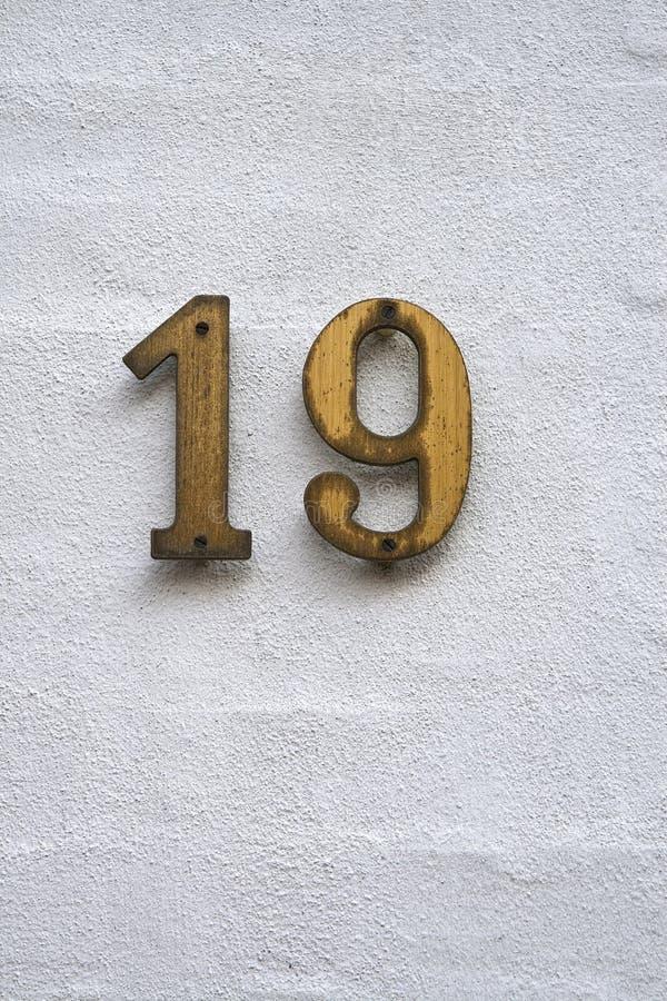 19编号 免版税库存照片