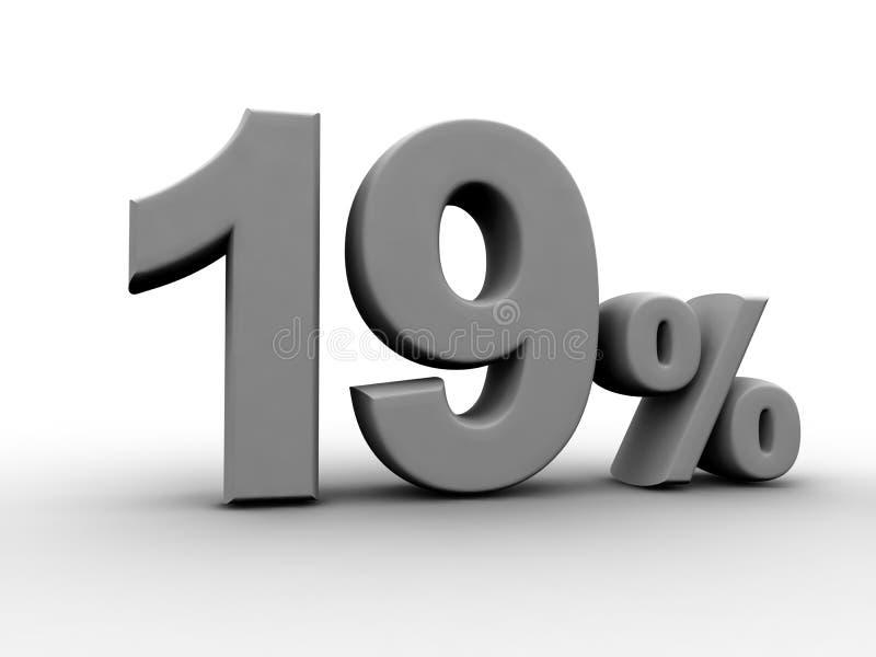 19 процентов иллюстрация вектора