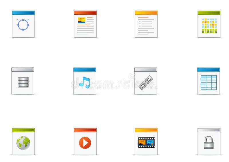 19 filetype ikon pixio set ilustracji
