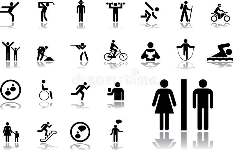 19. Images gráficas dos povos ilustração royalty free