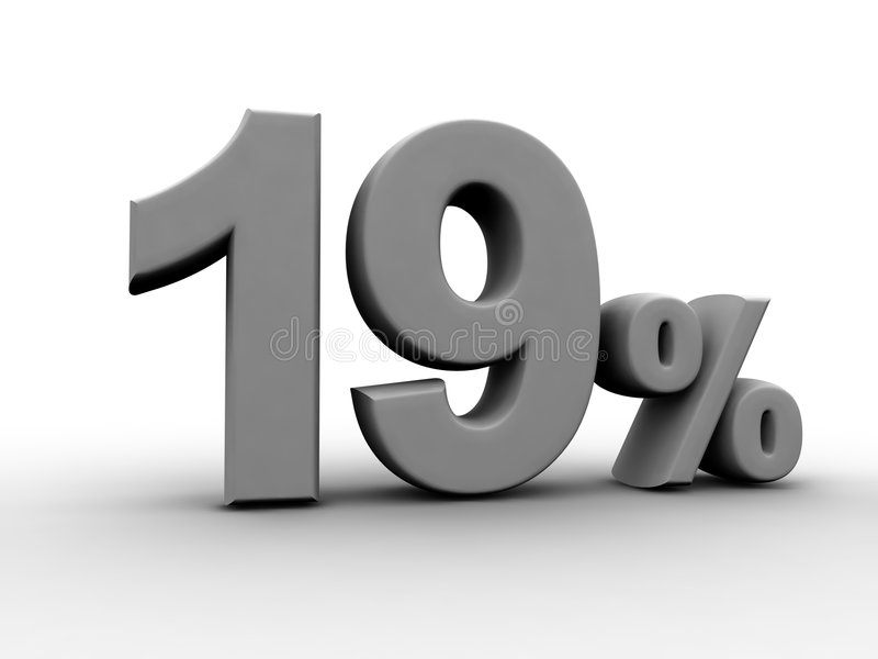 19 por cento ilustração do vetor