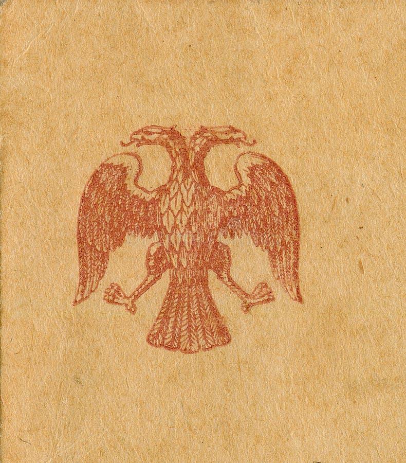 1900双老鹰朝向老s印花税 库存图片