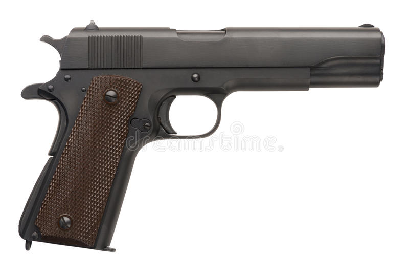 1911a1未发行军用的手枪 免版税库存照片