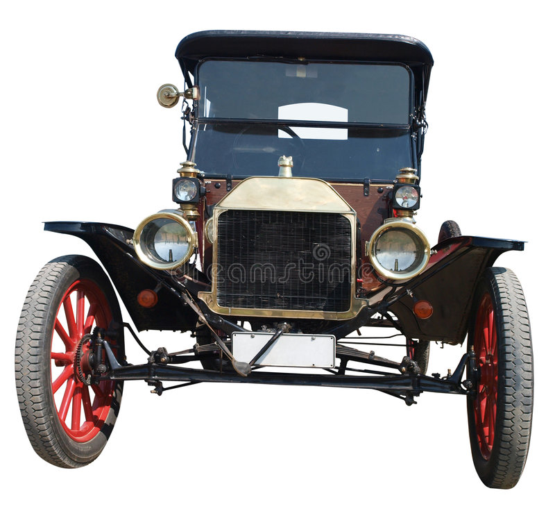1913 Ford model T Roadster. Isolated with clipping path royalty free stock image