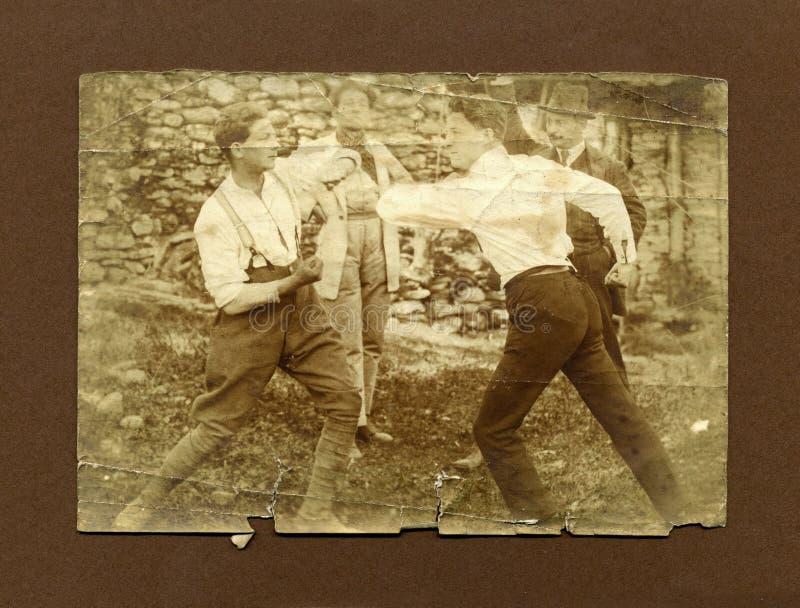 1920 antika foto för stridighetmanoriginal royaltyfria foton