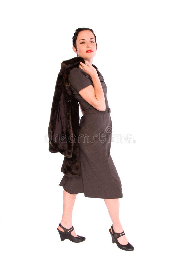 1920s style woman. royalty free stock photography