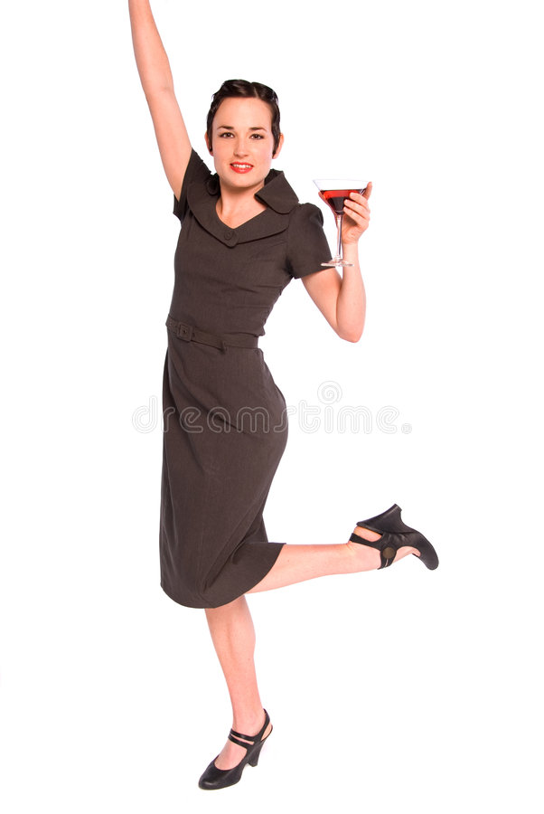 1920s woman with drink. royalty free stock photos