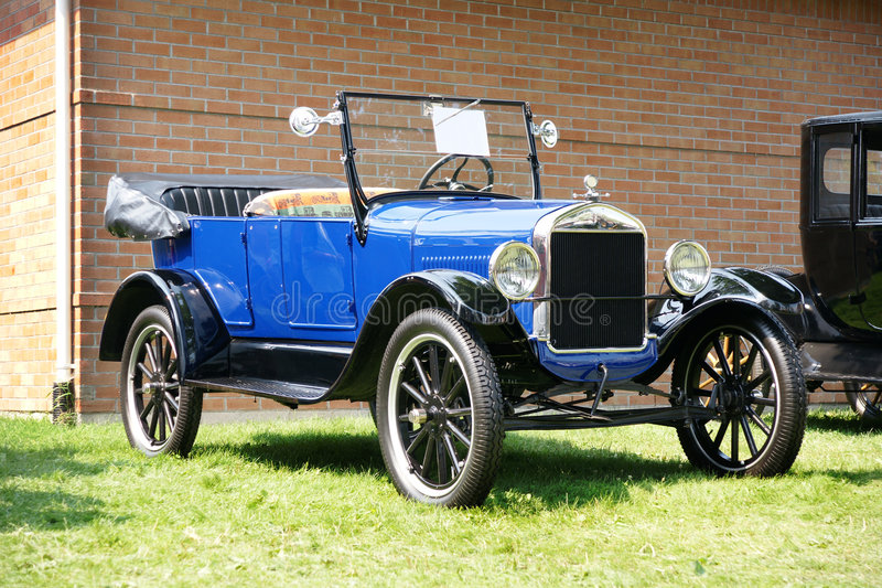 1926 Ford Model T. Picture of the blue 1926 Ford Model T stock photo