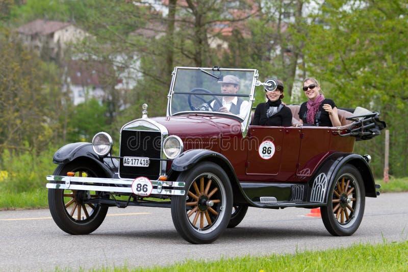 1926 samochodowych brodu samochodowy rasy t tourer rocznika wojn fotografia royalty free