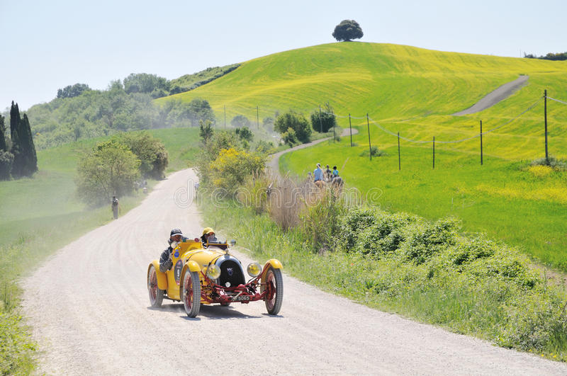 A 1927 Yellow BNC 527 Monza At 1000 Miglia Editorial Stock Image