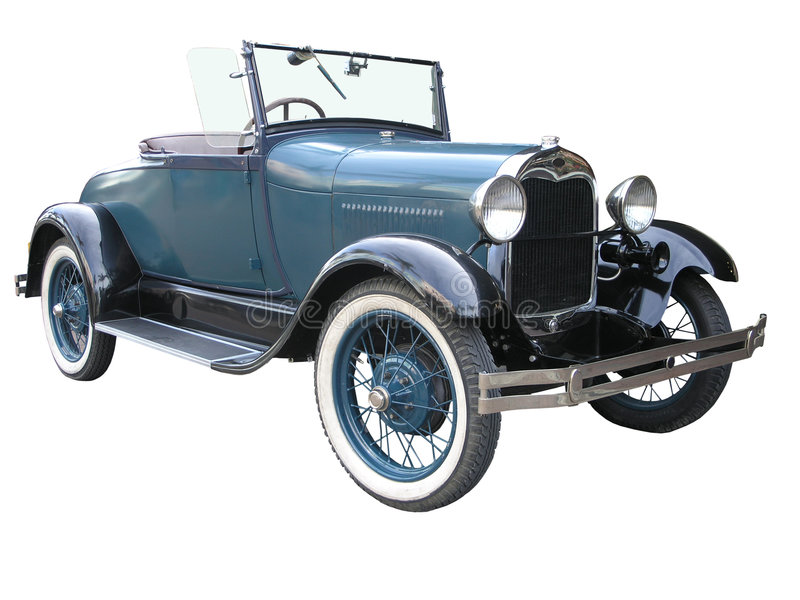 1928 Ford Model A Roadster. Isolayed with clipping path royalty free stock photos