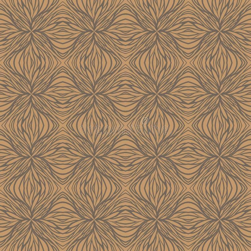 1930年, 30s手拉的线性艺术装饰模式 向量例证