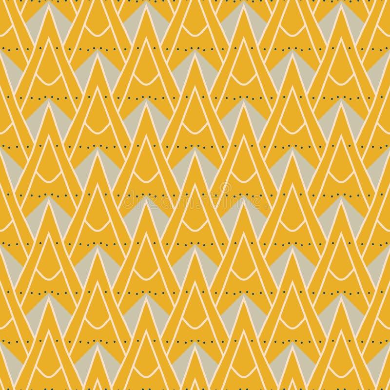 1930 moderna geometriska mönstrar med trianglar royaltyfri illustrationer