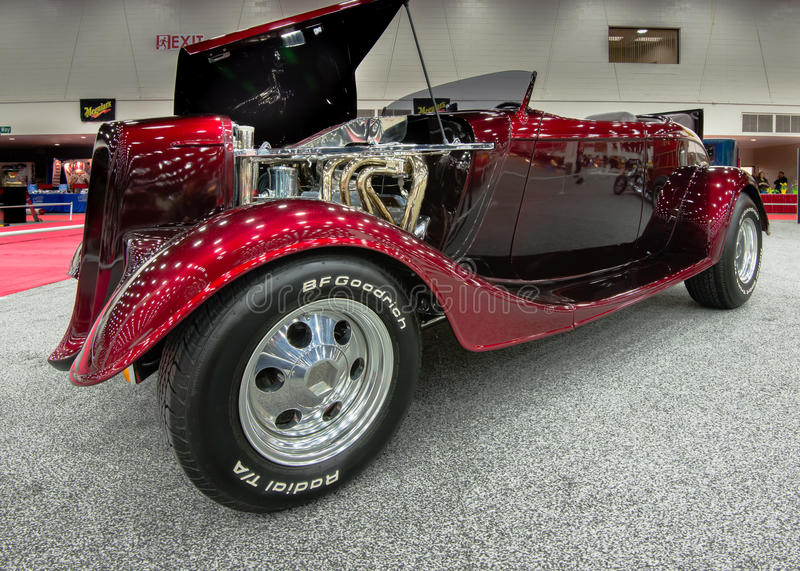 1934 Ford Roadster Interpretation. DETROIT, MI/USA - MARCH 8: 1934 Ford Roadster Interpretation, built by John Kolbusz, on display at the Detroit AutoRama, on royalty free stock image