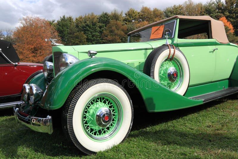1934 Zielony Packard fotografia royalty free