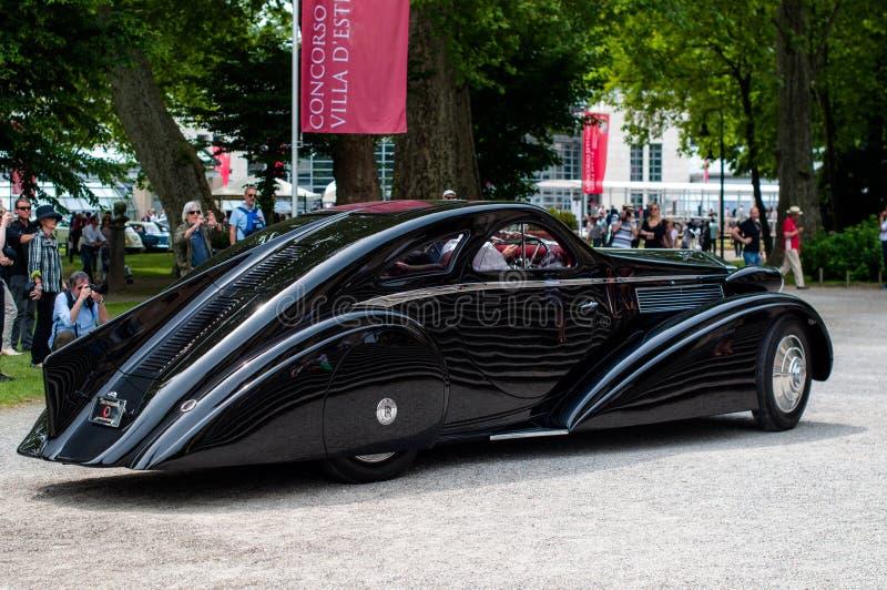 1935 coupe aedynamic pii stacza się royce obrazy stock