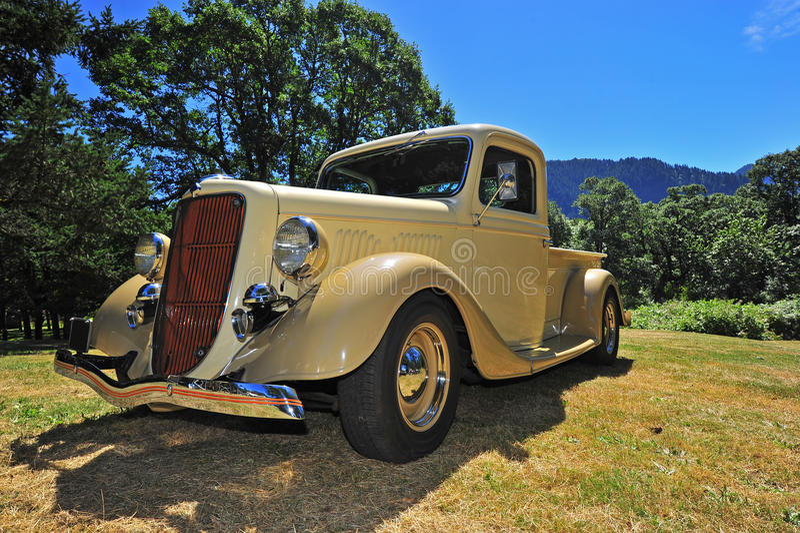 1940's era restored pickup truck royalty free stock photography