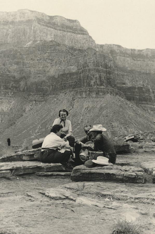 1940 storslagna originella foto för antik kanjon arkivbild