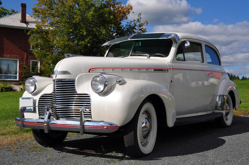 1940 White Chevrolet Master stock photography