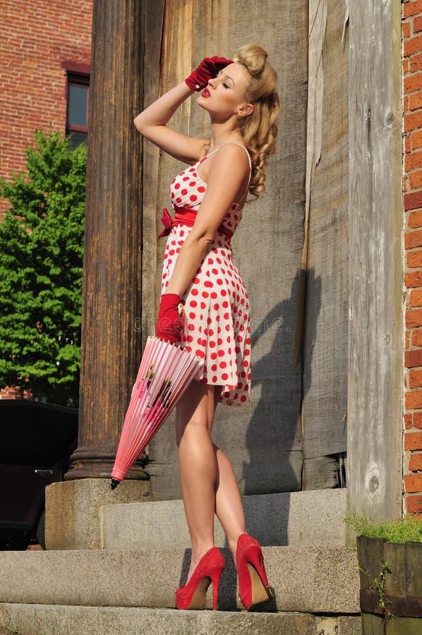 1940s pinup girl stock image