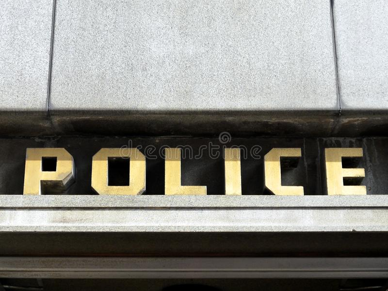 1940s Police station sign royalty free stock image