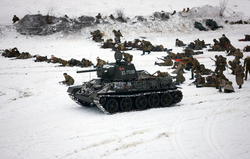 1943年陆军攻击ii重建红色ww 免版税库存照片