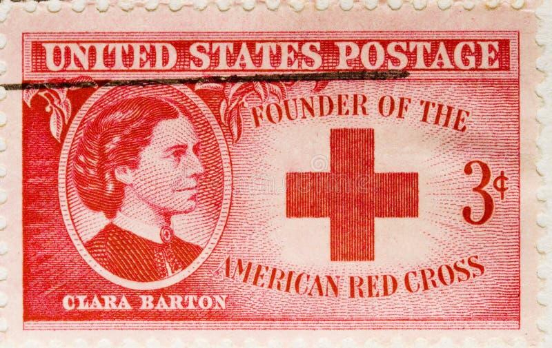 1943 Postage Stamp Clara Barton royalty free stock photography