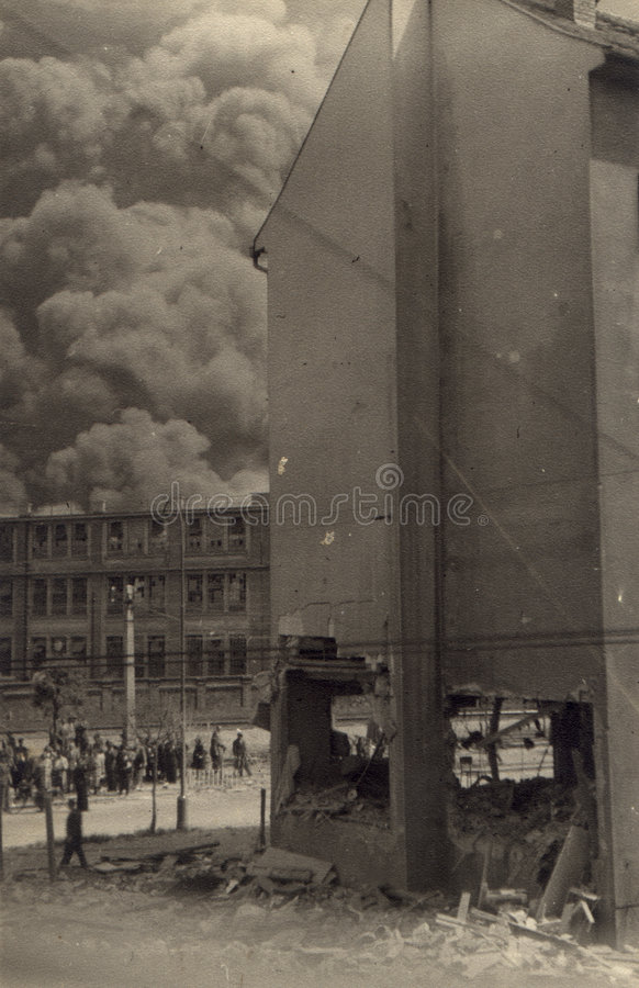 Download 1944 - Apollo in fire II stock photo. Image of bomb, town - 37438