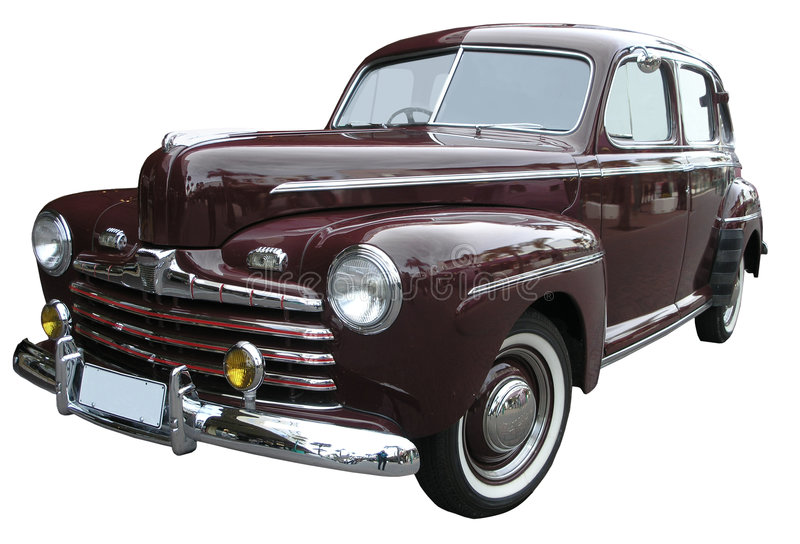 1947 deluxe ford superv8 royaltyfri bild