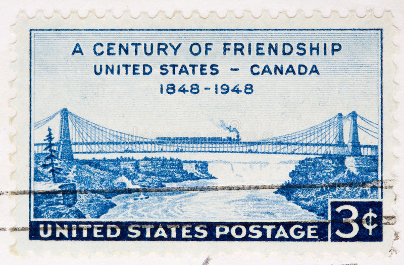 Download 1948  Stamp FriendShip United States Canada Stock Photo - Image: 7088304