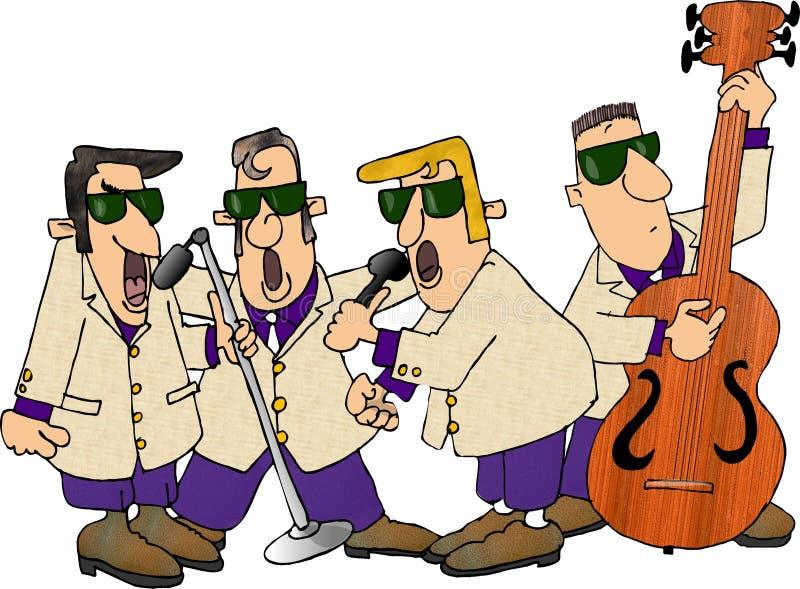 1950 grup rock s royalty ilustracja