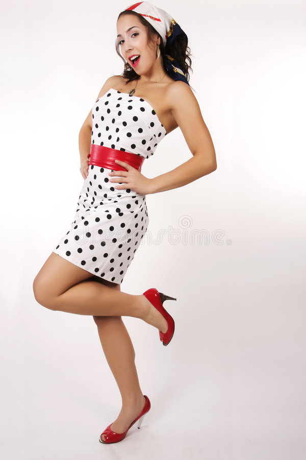1950 pin up girl royalty free stock image