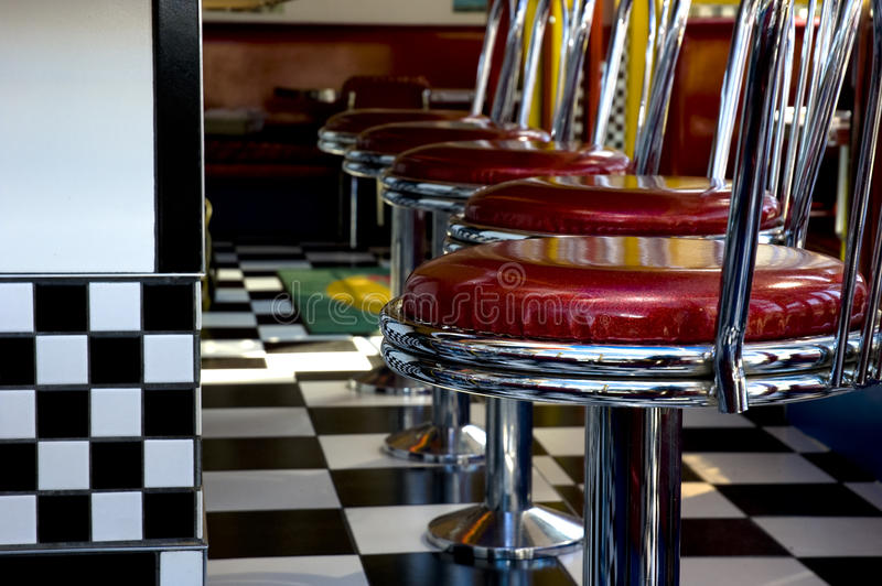 1950's Diner royalty free stock photo
