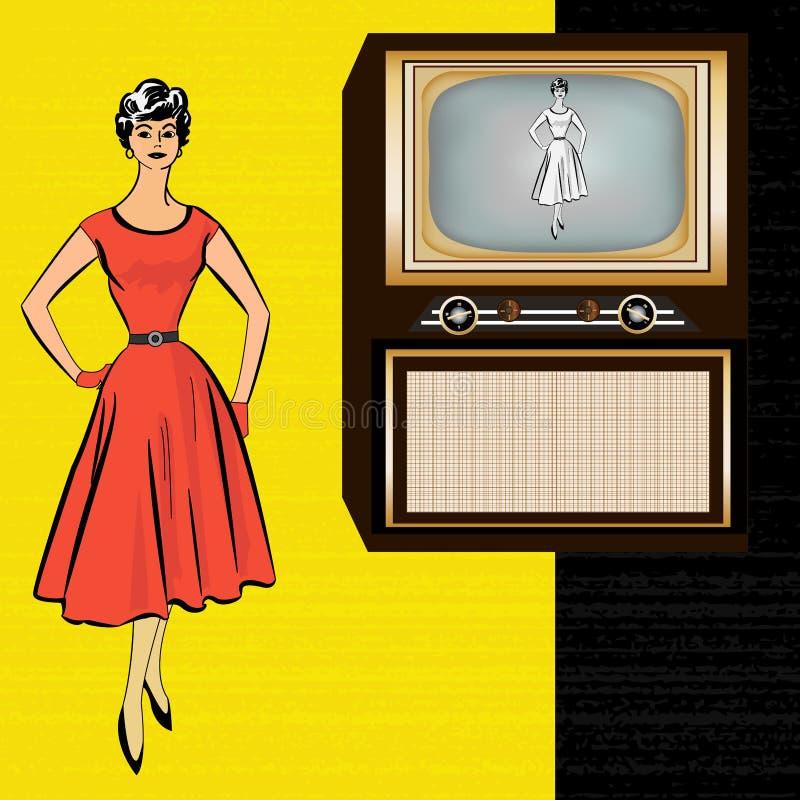 Download 1950's Retro Television Background Stock Photo - Image: 25404650
