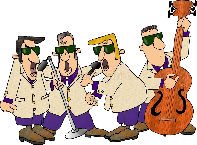Download 1950's Rock Group stock illustration. Image of sing, comic - 29883