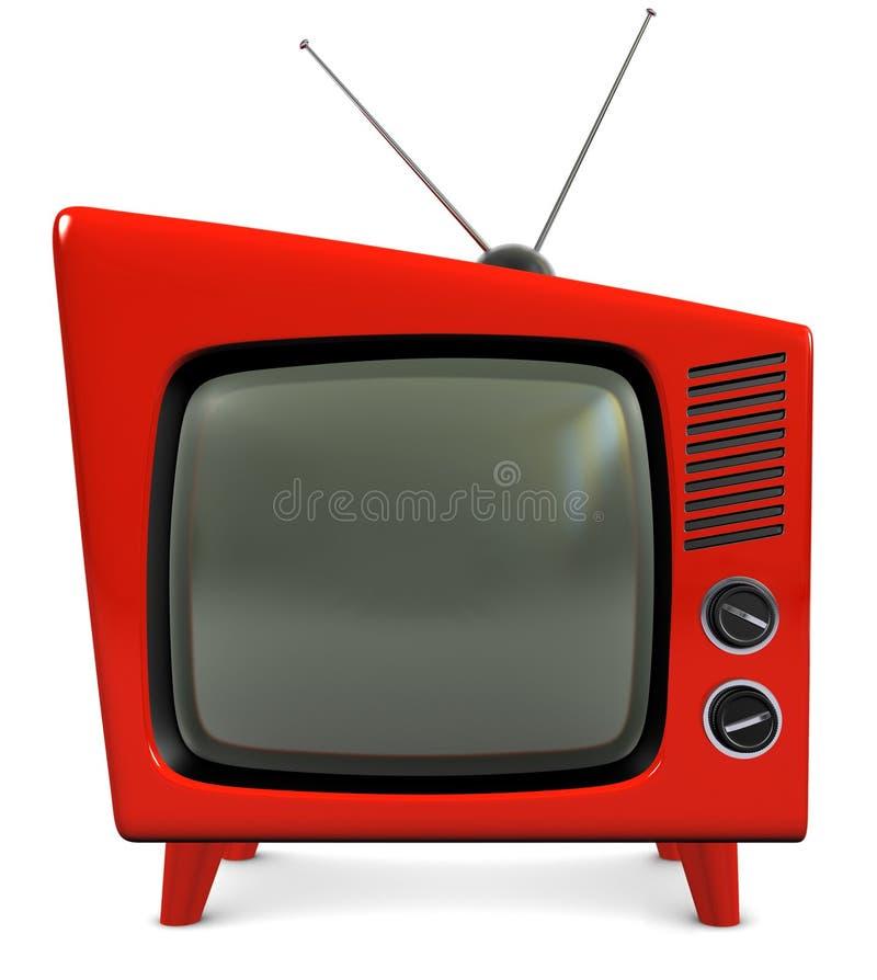1950s установили tv иллюстрация вектора