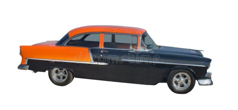 1950s black and orange hotrod stock photos