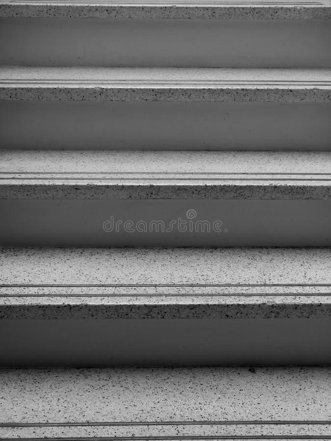 1950s: black and white terrazzo stair stock image
