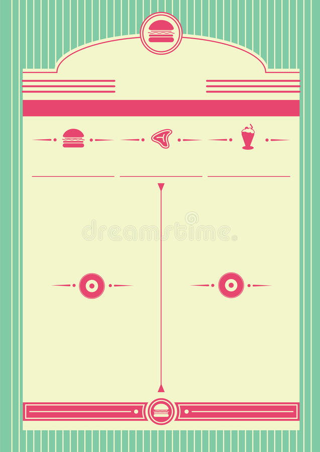 Free 1950s Diner Style Background And Frame Royalty Free Stock Photography - 32106787