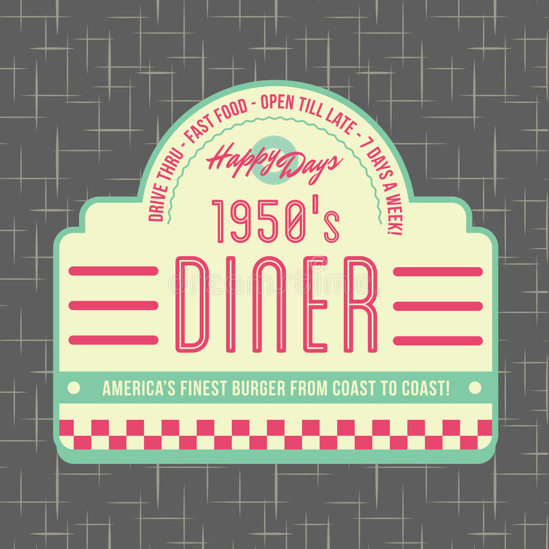 Free 1950s Diner Style Logo Design Stock Photography - 32436902
