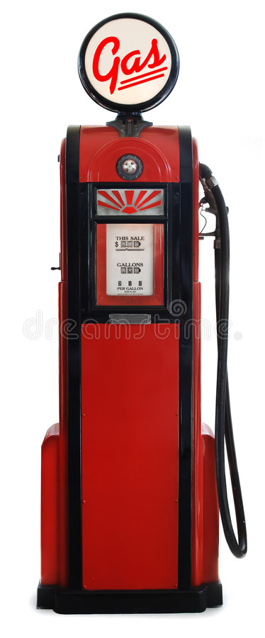 1950s gas pump royalty free stock photos