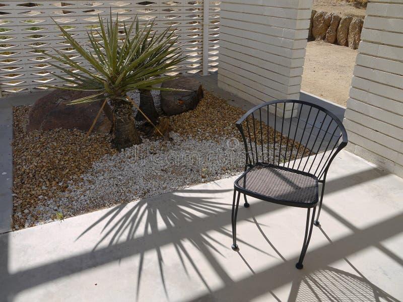 1950s Modernist garden: chair stock photography