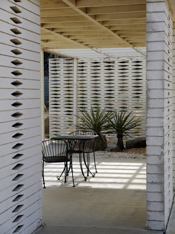1950s Modernist garden: outdoor room royalty free stock image