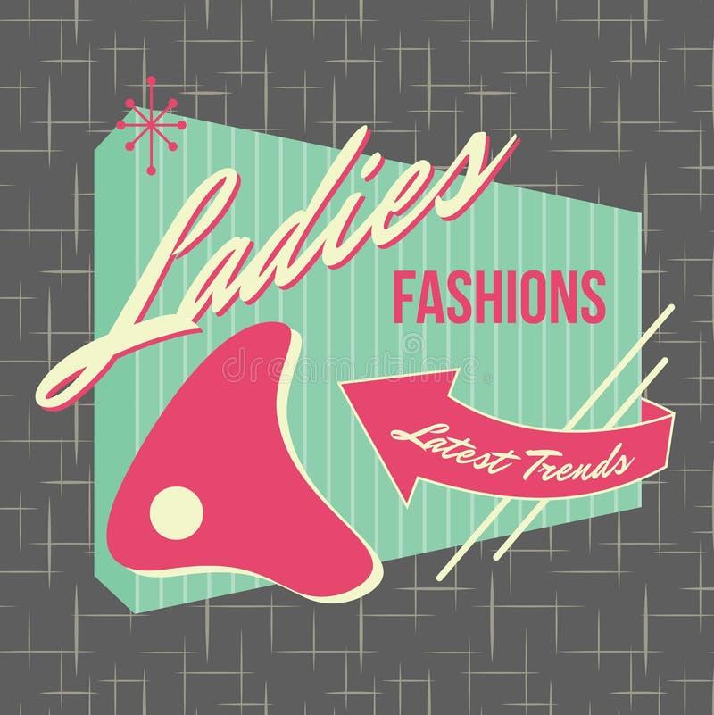 Free 1950s Storefront Style Logo Design Royalty Free Stock Photos - 32436898
