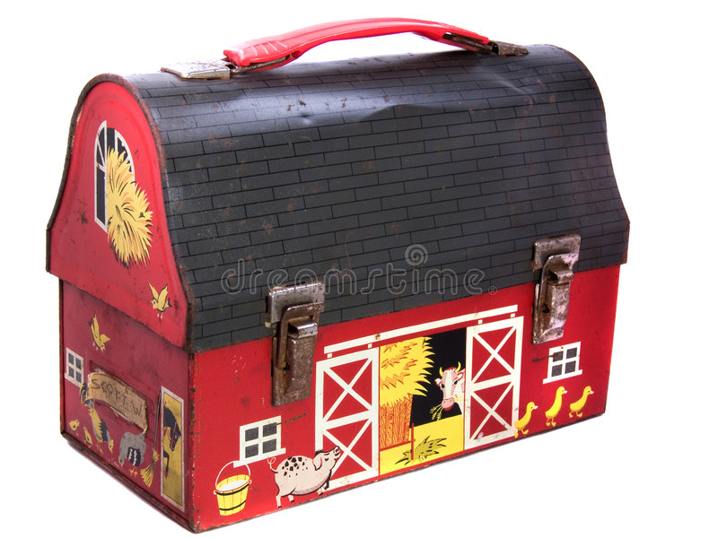 1950s Vintage Child's Lunch Box royalty free stock photography