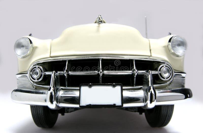 1953 bela powietrza fisheye metalu frontview skali zabawka samochodów fotografia royalty free
